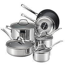 Circulon 77881 Genesis Stainless Steel 10-Piece Cookware Set