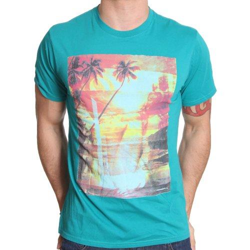 O'Neill T-Shirt Shirt Tee Gr.L Shorebreak grün Slim Fit Rundhals NEU