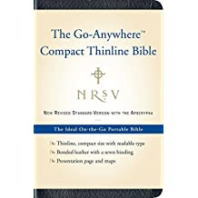 NRSV Go-Anywhere Compact Thinline Bible with the Apocrypha (Bonded Leather, Navy