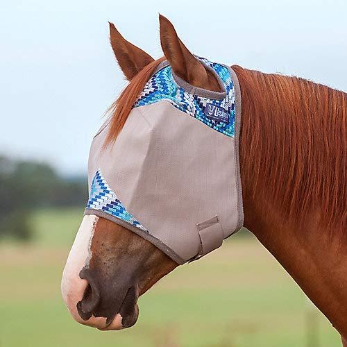 Cashel Designer Fly Mask Horse Blue Zig Zag by Cashel (Image #1)