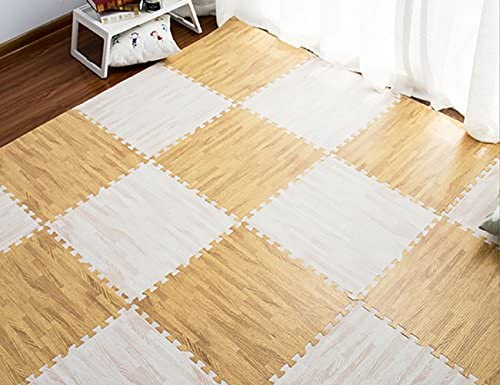 ShiyiUP Exercise Mat EVA Foam Interlocking Tiles Protective Flooring 9pcs
