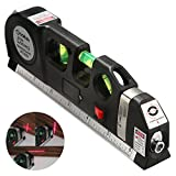 Kyпить Qooltek Multipurpose Laser Level laser measure Line 8ft+ Measure Tape Ruler Adjusted Standard and Metric Rulers на Amazon.com