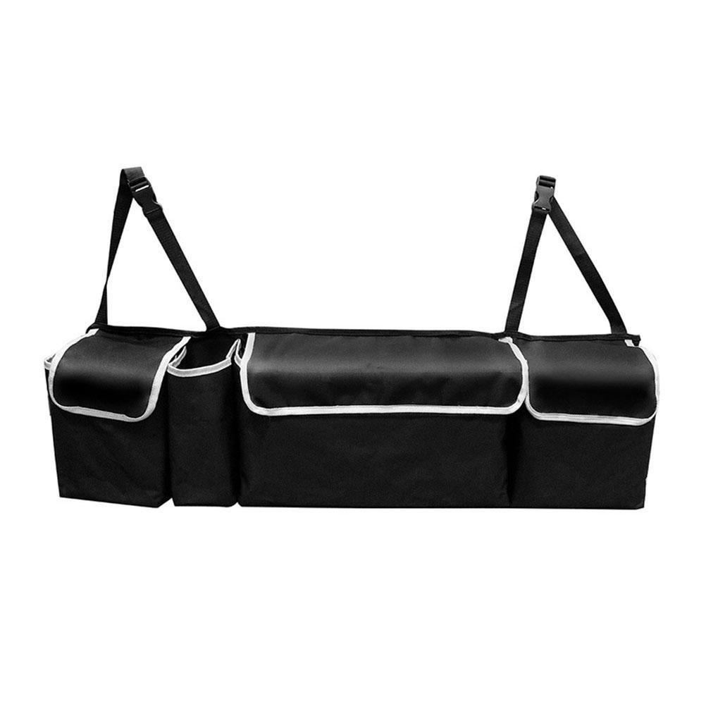 MQYH@ Car Boot Organiser,Multi Mesh Pocket Hanging Car Boot Storage Organiser,Waterproof Oxford Cloth Trunk Organizer,Car Seat Storage Bag Sundries Storage Bag - Black