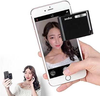 Godox A1 Mini Smartphone Flash Clip-Celular Speedlite, Luz de Vídeo LED Brillante Batería de Litio Integrado Autofoto Flash para Smartphones y Cámaras: Amazon.es: Electrónica