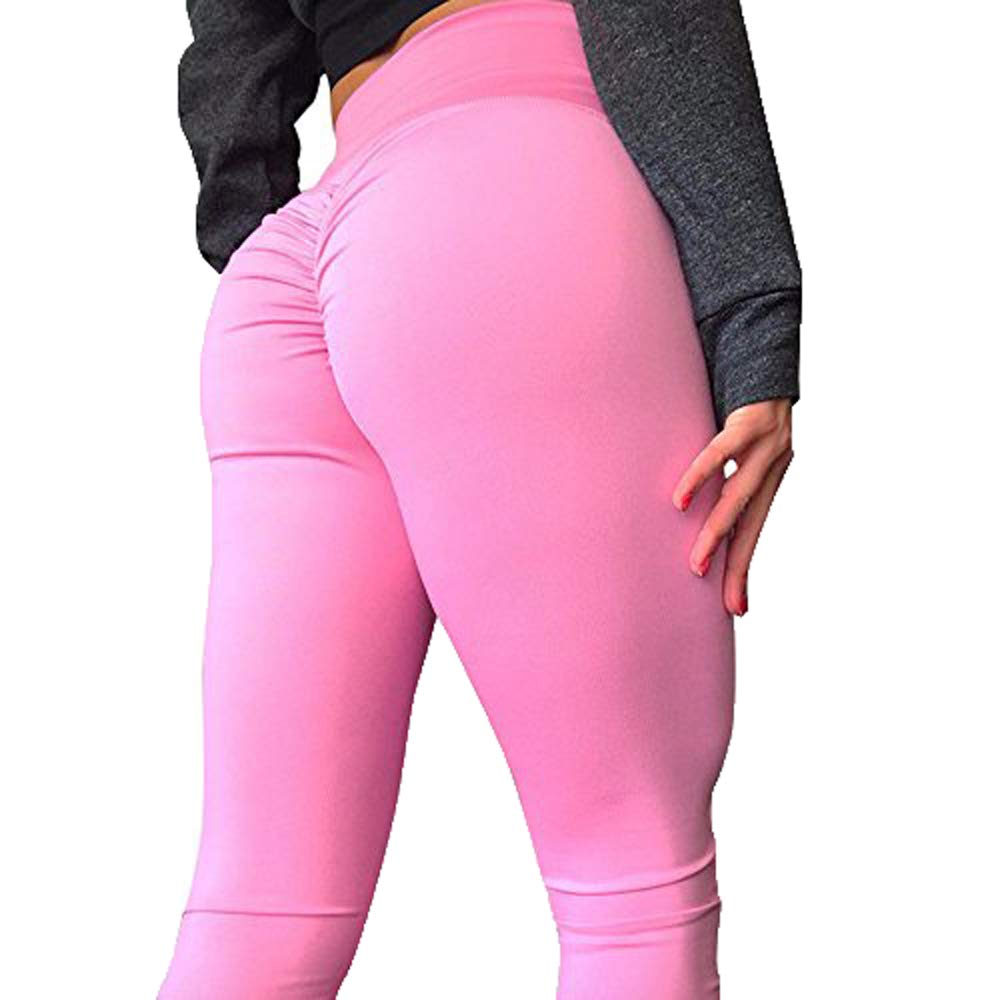 256a5ce9f Yoga Pants for Women,Ladies Scrunch Butt Leggings High Waist Workout Sport  Fitness Gym Tights Sports Pants Yamally Pink