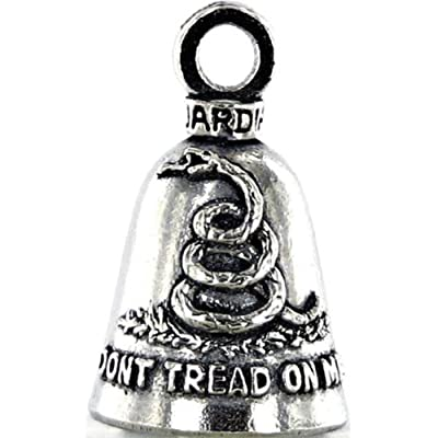 DONT TREAD ON ME Guardian Bell Motorcycle - Harley Accessory HD Gremlin NEW Riding Bell Key Ring Mod Dyna FXR Custom Triumph Heritage Sportster Chopper 1200 Iron 880 Vulcan Goldwing Honda Yamaha Kawasaki Sport Street Road War