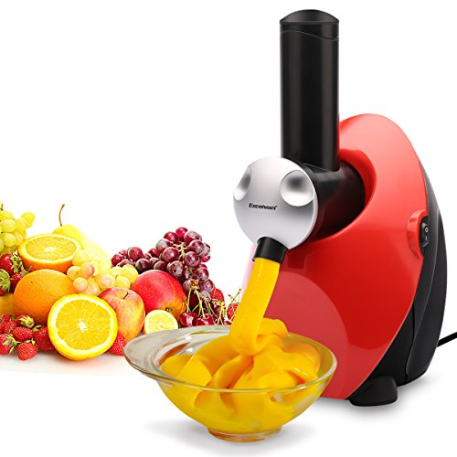 Excelvan Automatic Frozen Fruit Ice Cream, Yogurt and Dessert Maker Blender, Red - Berry Frozen Yogurt