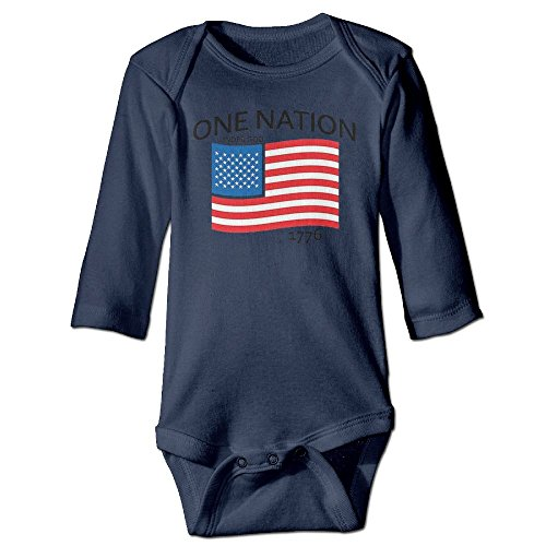 Richard Unisex Newborn Bodysuits One Nation Under God Patriotic 4th Of July Baby Babysuit Long Sleeve Jumpsuit Sunsuit Outfit 18 Months - Diy July Fourth Shirt Of