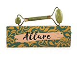 Facial Massage Reduce Swelling - Allure Essentials Premium Jade Roller - 100% Real Natural Jade Stone - Roller For Face, Reduces Swelling, Stress Reliever, Face Massager, and Neck Massager.