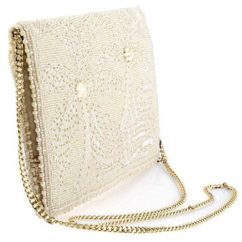 Crossbody Panama Trees MARY Clutch Solid FRANCES Handbag Palm Beaded FwT1U