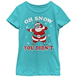 Lost Gods Girls' Christmas Snow You Didn't Tahiti Blue T-Shirt