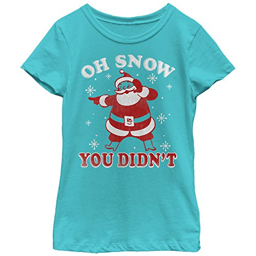 Lost Gods Girls' Christmas Snow You Didn't Tahiti Blue T-Shirt by Lost Gods