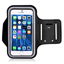 VersionTech Sweatproof Sporty Sport Armband + Key Holder + Screen Protector For For Workouts, Running, Cycling, Any Fitness Activity Outside or in the Gym Gymnasium For Apple iPhone 7 Plus iPhone 6/6S Plus