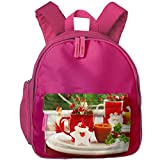 Baby Child Merry Christmas Preschool Lunch Bag Pink