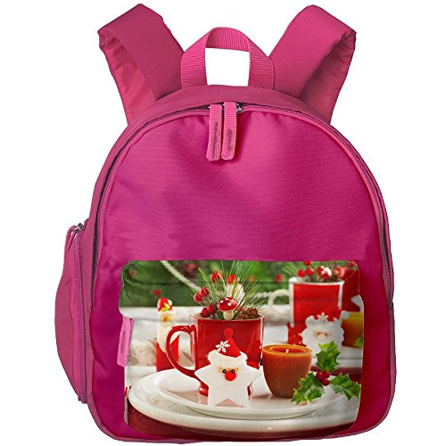 Baby Child Merry Christmas Preschool Lunch Bag Pink by Fashion Theme Tshirt
