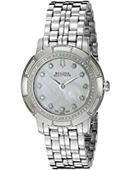 Bulova Womens 63R138 Pemberton Analog Display Swiss Quartz Silver Watch