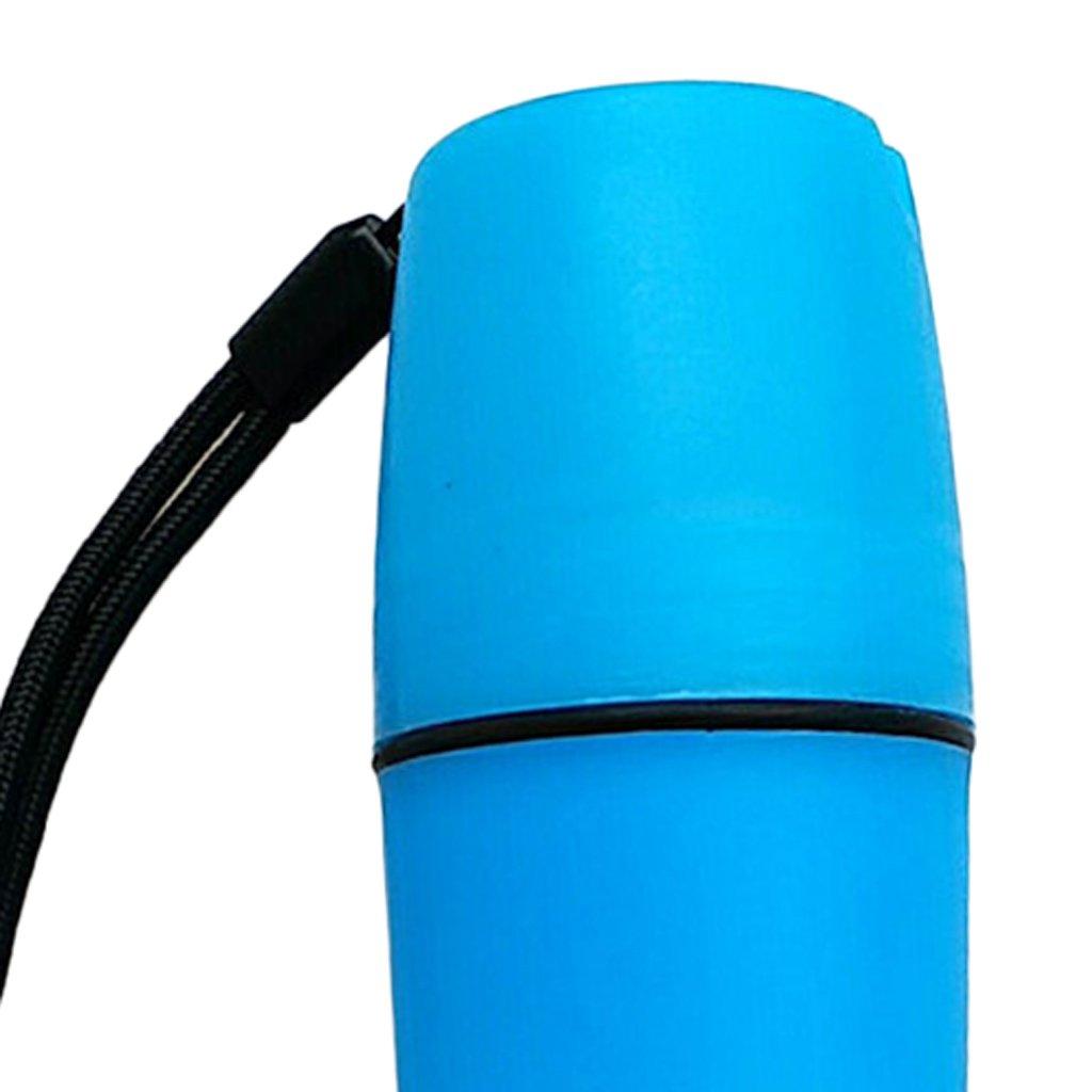 Prettyia 2pcs 30x4cm Dry Bottle Container Float Money Storage Box for Kayak Surfing Camping Fushia Blue