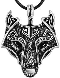 1PCS Nodic Vikings Wolf Head Pendant Necklace Original Animal Jewelry Wolf Head hange …