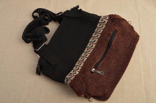 Madeheart Bolso de mujer hecho a mano bolso tejido a ganchillo accesorio de moda