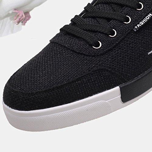 uomo tela scarpe uomo 42 Nuove Black Size coreano scarpe scarpe YaNanHome Gray Color casual da tendenza selvatici tela scarpe estate stile da di di t4ZTZnq