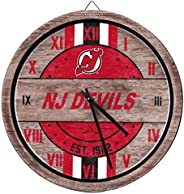 NHL New Jersey Devils Team Logo Wood Barrel Wall ClockTeam Logo Wood Barrel Wall Clock, Team Color, One Size