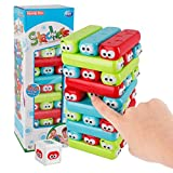Colored Plastic Blocks Stacking Board Games Building Blocks for Kids - 30 Pieces