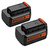 Powilling 2Pack 40 Volt MAX 2.2Ah Lithium Replacement Battery for Black and Decker 40V Battery LBX2040 LBXR36 LBXR2036 LST540 LCS1240 LBX1540 LST136W Black+Decker Lithium Battery