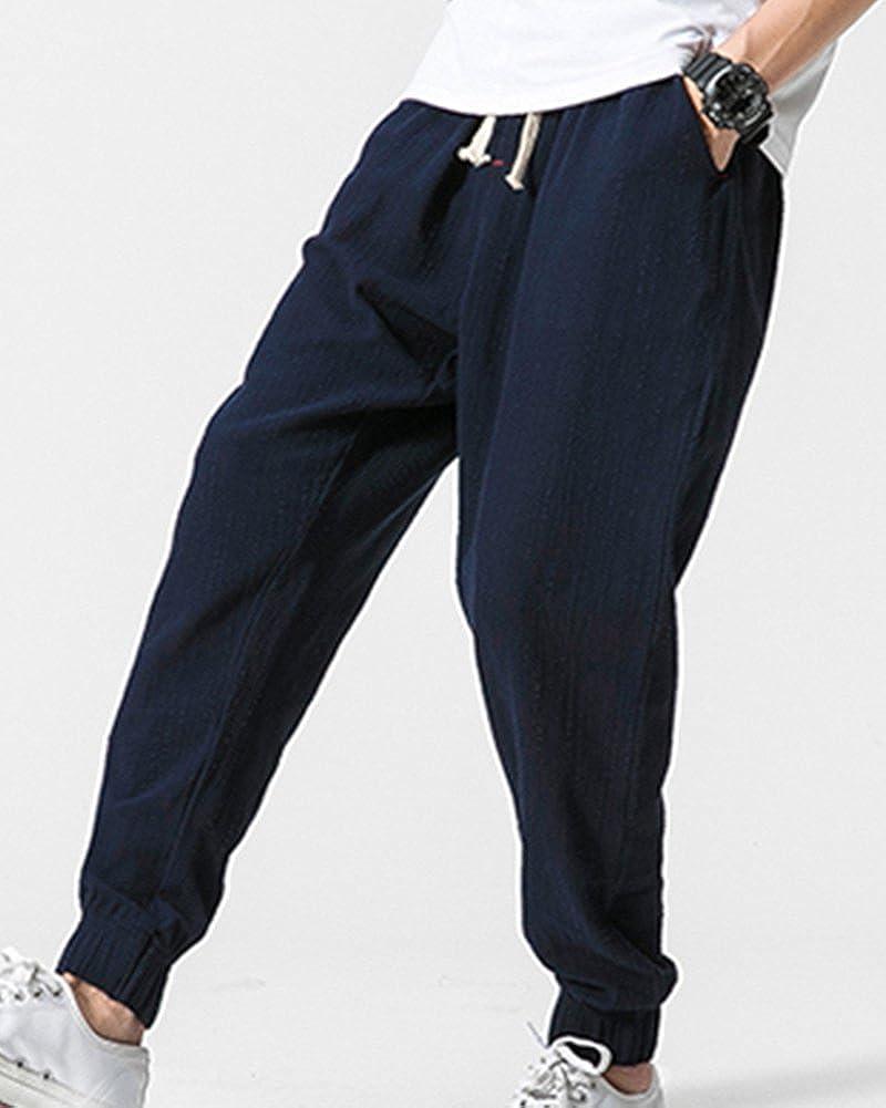 ShiFan Hombre Tallas Grandes Pantalones Casual De Jogging Con Anchura Regulable De La Cintura: Amazon.es: Ropa y accesorios