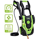 PowRyte Elite 3800 PSI 2.80 GPM Electric Pressure Washer, Electric Power Washer with 5 Quick-Connect Spray Tips, Cold Water Pressure Cleaner