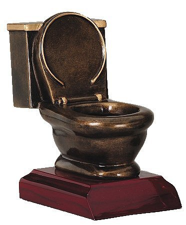 Toilet Bowl Trophy by Decade Awards Bowl Trophy