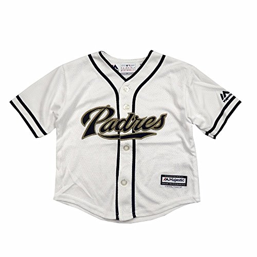 Majestic Athletic San Diego Padres MLB White Official Home Cool Base Jersey for Infant (12M) - San Diego Padres Cool
