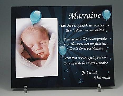 Cadre Photo Aimant Pour Marraine Cadeau Parrain Marraine Baptême Communion