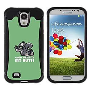 KEIZZ Cases / Samsung Galaxy S4 I9500 / Nutty Kinky Squirrel / Robusto Prueba de choques Caso Billetera cubierta Shell Armor Funda Case Cover Slim Armor