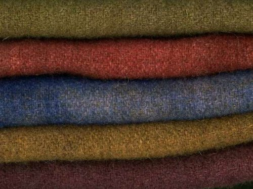 Hand Dyed Felted Primitive Wool Chunks 5 Piece 9'' x 10'' 5136 In the Patch by Patch