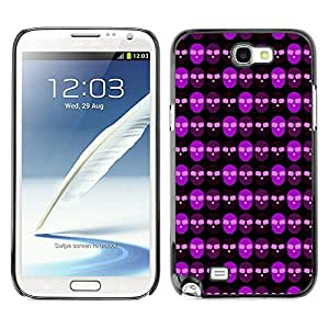 iKiki-Tech Estuche rígido para Samsung Galaxy Note 2 N7100 - Violet Skull