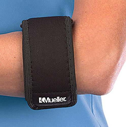 Mueller Tennis Elbow Support, Black, One Size (Mueller Elbow Support)