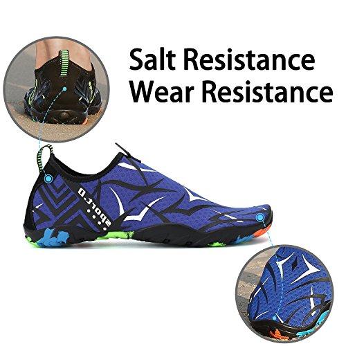 Shoes acuático para Resaca de de Saguaro Aqua Patrón Playa la Calcetines de Blanco Descalzo Nadada Skin de la Yoga la gw5gYtqR