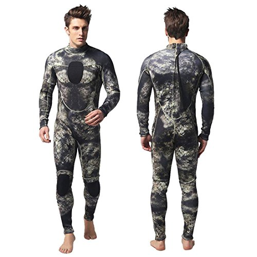 - Nataly Osmann Mens 3mm Wetsuits Camo Neoprene Full Body Diving Suits One Piece Spearfishing Suit