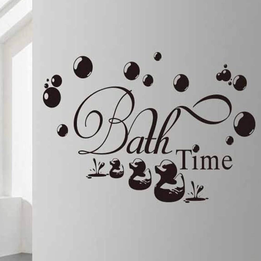 Hora del baño Tatuajes de pared Vinilo Baño Decoración para el ...