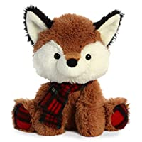"Aurora - Christmas Items - 8"" Puma D. Plaid Fox"