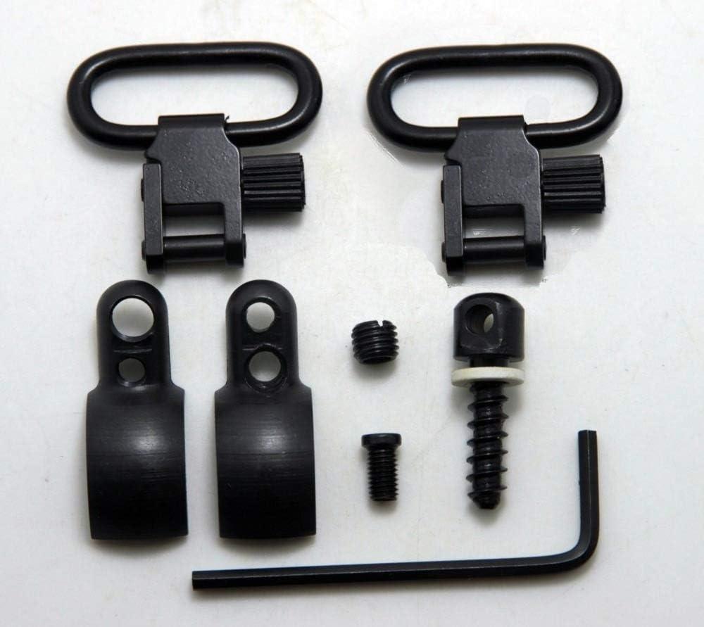 NO LOGO Lixia-Giratorio, Kit de Montaje de Eslinga giratoria de Rifle de Palanca - Se Adapta a Pistolas con Barril o diámetros de Tubo de Cargador de.