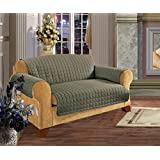 Quilted Pet Dog Children Kids Furniture Protector Slip Cover Sage Sofa