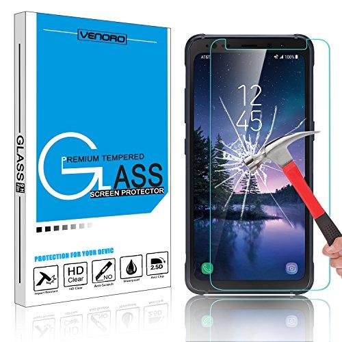 Galaxy S8 Active Screen Protector, Venoro 9H Anti-Scratch HD Bubble Free Anti-fingerprint Tempered Glass Screen Protector for Samsung Galaxy S8 Active / SM-G892A 5.8