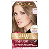 L'Oréal Paris Excellence Créme Permanent Hair Color, 7BB Dark Beige Blonde, 1 kit 100% Gray Coverage Hair Dye