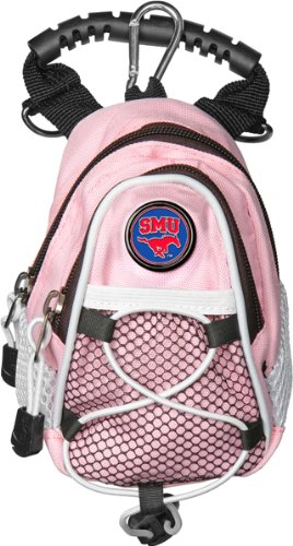 NCAA Southern Methodist University Mustangs - Mini Day Pack - Pink by LinksWalker
