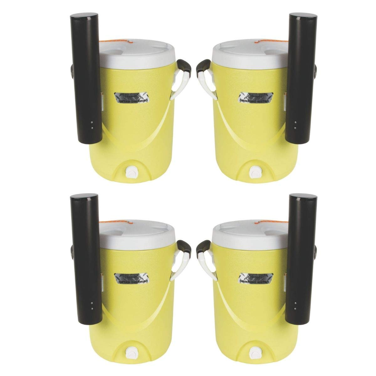 Coleman 3000004064 Beverage Cooler,5 gal,Plastic G4326485 (Yellow/Set of 4)
