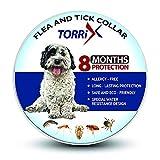 TORRIX Dog Collar – 8-Month Flea Medicine – Adjustable, Safe and Water Resistant Flea Prevention Collar