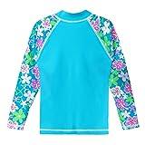 TFJH E Girls Swimsuit UPF 50+ UV Two Piece Rainbow