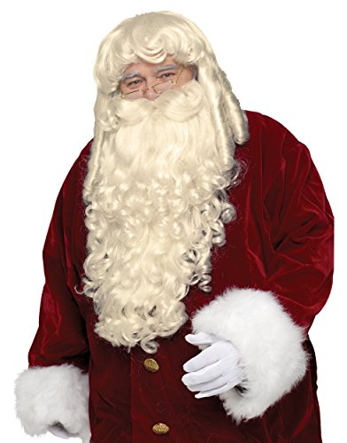 (Super Deluxe Santa Claus Wig and Beard Set Costume)