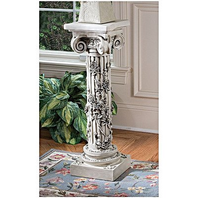 Design Toscano The Rose Garland Pedestal Plant (Toscano Rose)
